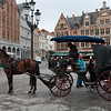 Horse carriage waiting for customers at the central market square