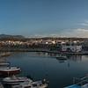 Venetian harbor of Rethymno in the evening
