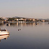 Panorama of Porto Colom, Mallorca,  at morning