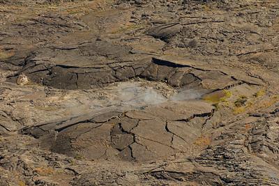 Steam from a pressure ridge inside the Kilauea caldera.