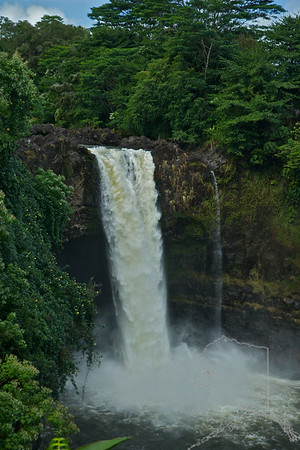 We took a day trip from Maui to the Big Island. Had a great time. Rainbow Falls.