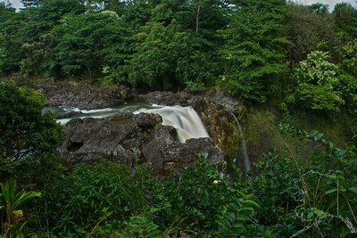 We took a day trip from Maui to the Big Island. Had a great time. The top of Rainbow Falls.