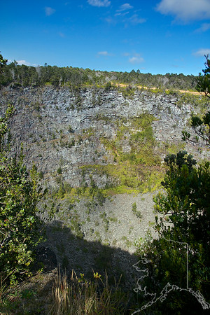 A crater off of chain of craters road.