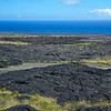 This area marks the old road that was covered over in the 1972 Alae Lava Shield flow.