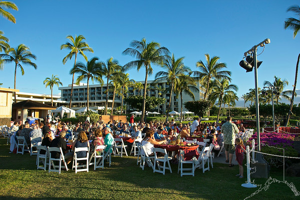 Getting ready for the Luau! Waikoloa Marriott Royal Luau. It was a great time with good food. The staff treated us like royalty!