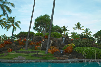 Kauai Beach Resort grounds around the pool area.