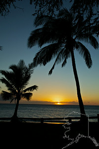 Long Beach near Kihei. Sunset at Kihei.