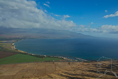 Helicopter Ride over Maui and Molokai. A lot of nice rainbows this trip. Maui. Long Beach and Kihei in the background.
