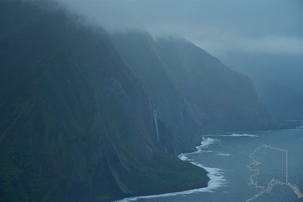 Helicopter Ride over Maui and Molokai. A lot of nice rainbows this trip. Waterfalls on Molokai.