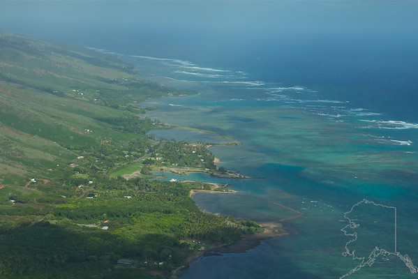 Helicopter Ride over Maui and Molokai. A lot of nice rainbows this trip. Southern coast of Molokai.