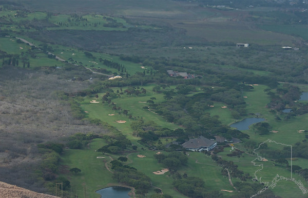 Helicopter Ride over Maui and Molokai. A lot of nice rainbows this trip. Maui. One of the Golf courses on Maui. The Club house you see use to belong to Marilyn Monroe.