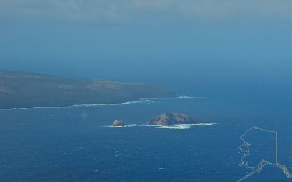Helicopter Ride over Maui and Molokai. A lot of nice rainbows this trip. Mokuho'Oniki Island.