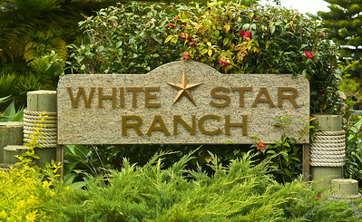 White Star Ranch is on the road going up to the volcano. It is rumored that this place belonged to Tom Selleck. I don't think he live there anymore. All these images were taken from the road. The ranch is gated.