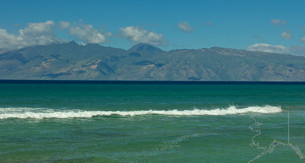 This is the island of Moloka'i. You can see this island right off the lanai at Makani Sands Condos.