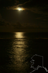 Moon setting on Maui.