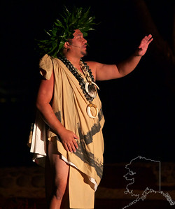 The story teller of our Luau.