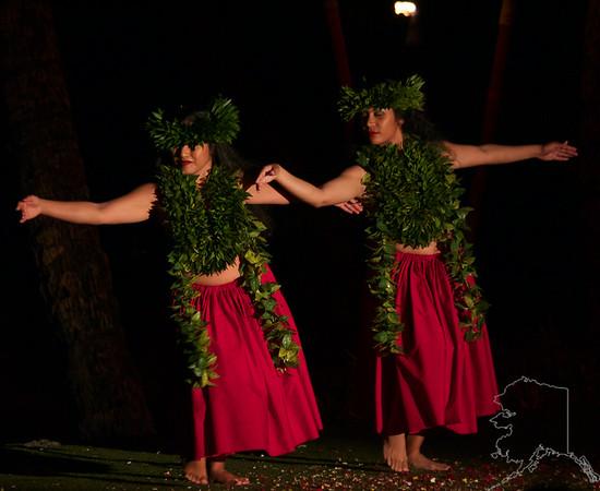 Na-mako-o-Kaha'i, who was the Goddess of the Sea and her sister Pele Goddess of Fire.