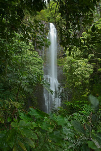 Wailua Falls is the wildly popular waterfall along the Hana Hwy. Wailua Falls is about 80 ft. high