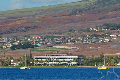 Lahaina Shores from the water. They have a great beach. Here is their website.. http://www.lahainashores.com/