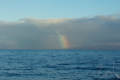 Morning rainbow looking at Molokai.