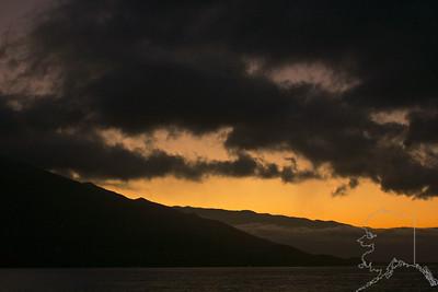Sun rising on Maui.