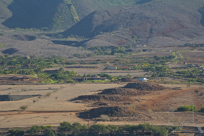New Subdivision going up on Maui. The mounds of dirt are used so your new house is level.