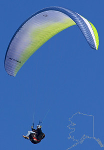 Now this is relaxing! Paragliding