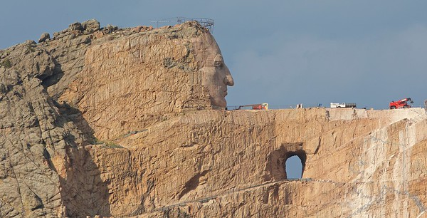 The Crazy Horse Memorial is a mountain monument under construction on privately held land in the Black Hills, in Custer County, South Dakota.