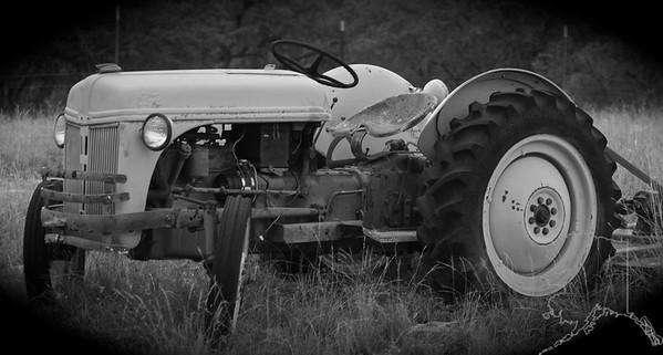 Broken old tractor.