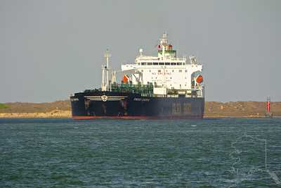 Oil Tanker coming in to fill up on Texas gold at Corpus Christi.
