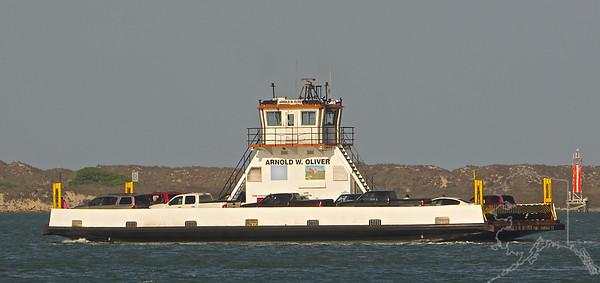 This is the Ferry to Port Aransas. The one pictured here is an old one that is being fazed out and replaced with bigger and better.