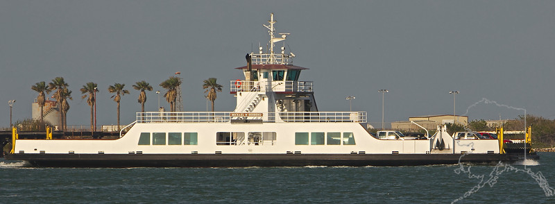 This is the Ferry to Port Aransas. The one pictured here is a new Ferry. It is replacing the old one you seen previous to this picture.