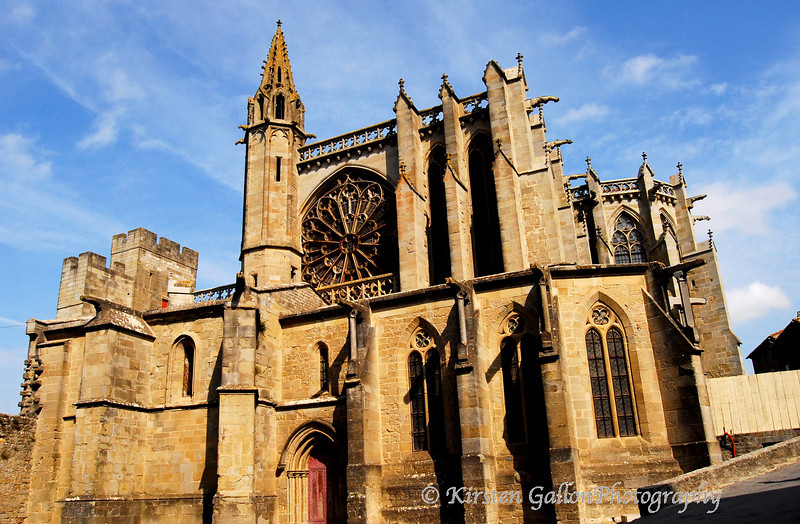 A church inside the walled city of Carcasonne.