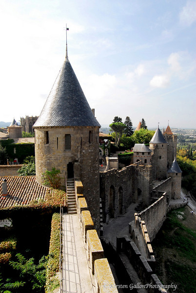 Part of the Walled City in Carcasonne, France.