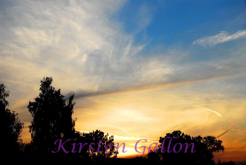 Sunset at Vilseck.
