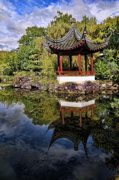 Chinese Gazebo in Dr. Sun Yat Sen's Chinese garden.