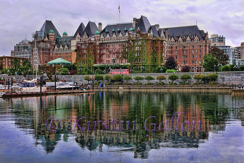 Empress Hotel, Victoria, B.C., in the rain.