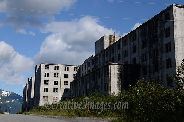 Seward Highway, Whittier Alaska. Old US millitary building. <br /> Photography by: Ccreative Images Photography. <br /> All rights reserved.