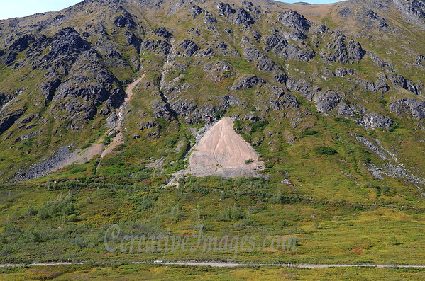 Hatcher Pass Road Alaska. Note the truck and the mine shaft.<br /> Photography by: Ccreative Images Photography. <br /> All rights reserved.