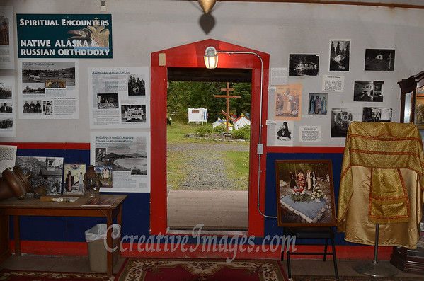 Eklutna Alaska, old Russion Orthodox church <br /> Photography by: Ccreative Images Photography. <br /> All rights reserved.
