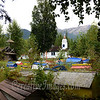 Eklutna Alaska, old Russion Orthodox church.<br /> Check out the graves. <br /> Photography by: Ccreative Images Photography. <br /> All rights reserved.