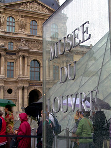 The Louvre in the rain Paris, France