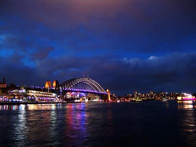 View of the Sydney Harbour Bridge from Circular Quay Wharf  Sydney, Australia