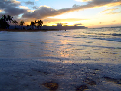 Sunset Bubblebath Haleiwa, Oahu, Hawaii