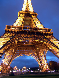 Eiffel Tower at dusk Paris, France