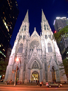 St Patrick's Cathedral New York Taken with my new wide angle lens. It kind of distorts the top and bottom of the frame and I actually like it.
