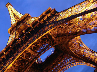Eiffel Tower at night Paris, France