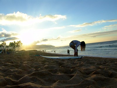 Surfer Girl Haleiwa, Oahu, Hawaii