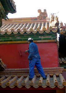 Painting the Forbidden City, Beijing China