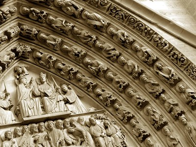 Detail of doorway, Notre Dame Cathedral